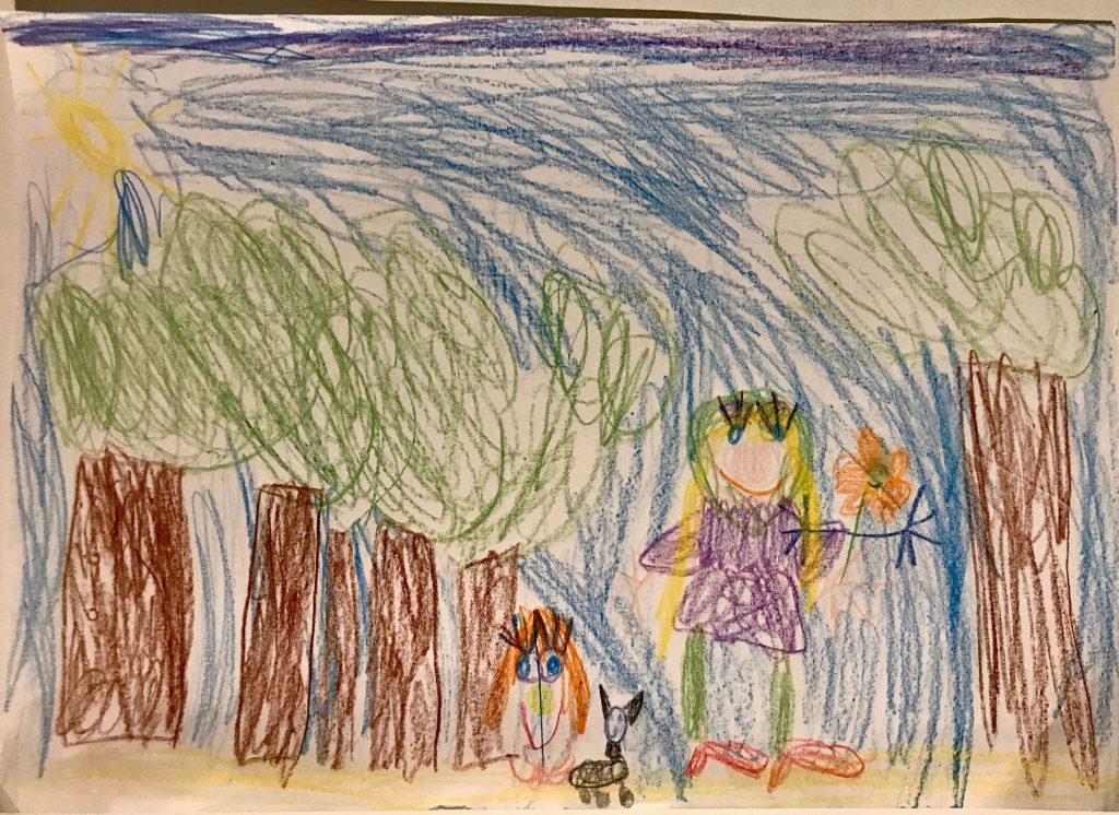 Dorohty, Toto, Mopul și Floarea desenate de Eva
